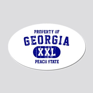 Property of Georgia, Peach State 20x12 Oval Wall D