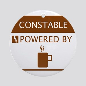 Constable Powered by Coffee Ornament (Round)