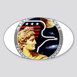 Apollo 17 Mission Patch Sticker (Oval)