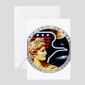 Apollo 17 Mission Patch Greeting Card