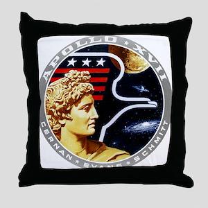Apollo 17 Mission Patch Throw Pillow