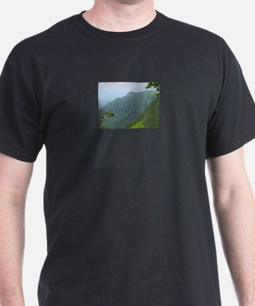 Na Pali Coast Black T-Shirt