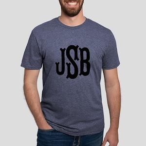 Monogram Initials Personali Mens Tri-blend T-Shirt