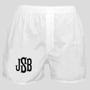 Monogram Initials Personalized Boxer Shorts