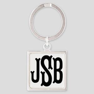 Monogram Initials Personalized Square Keychain