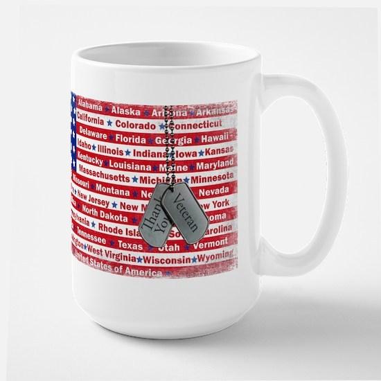"""""""Thank You Veteran"""" Large Mug"""