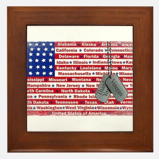 """""""Thank You Veteran"""" Framed Tile"""