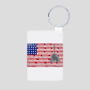 """Thank You Veteran"" Aluminum Photo Keychain"