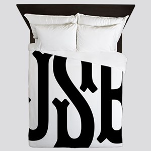 Monogram Initials Personalized Queen Duvet
