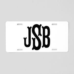 Monogram Initials Personali Aluminum License Plate