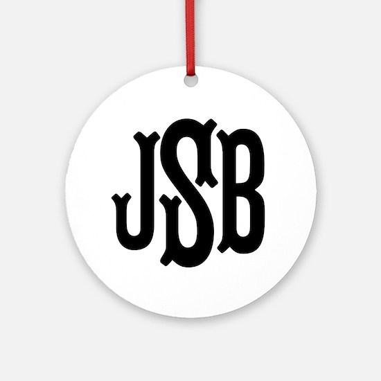 Monogram Initials Personalized Round Ornament