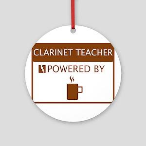 Clarinet Teacher Powered by Coffee Ornament (Round
