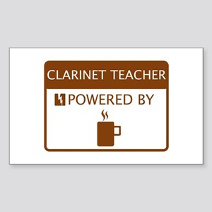Clarinet Teacher Powered by Coffee Sticker (Rectan