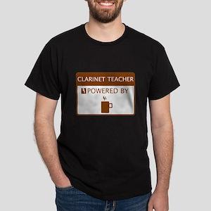 Clarinet Teacher Powered by Coffee Dark T-Shirt