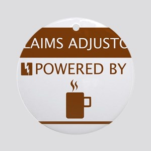 Claims Adjustor Powered by Coffee Ornament (Round)