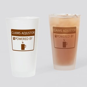 Claims Adjustor Powered by Coffee Drinking Glass