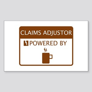 Claims Adjustor Powered by Coffee Sticker (Rectang