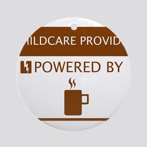 Childcare Provider Powered by Coffee Ornament (Rou