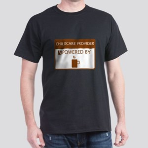 Childcare Provider Powered by Coffee Dark T-Shirt
