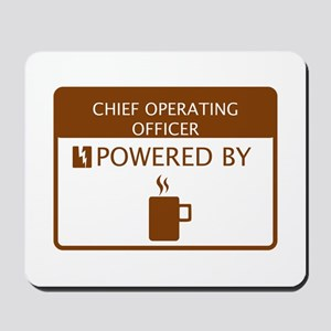 Chief Operating Officer Powered by Coffee Mousepad