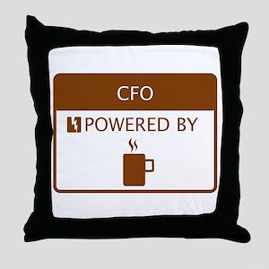 CFO Powered by Coffee Throw Pillow