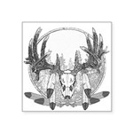 whitetail 2011 3a feather Square Sticker 3