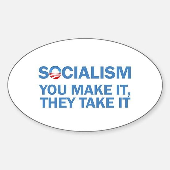 Socialism Sticker (Oval)