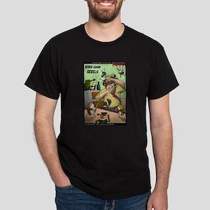 When Sushi Rebels Dark T-Shirt