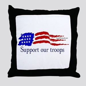 American Flag/Support Troops Throw Pillow