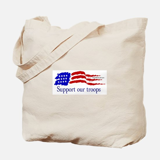 American Flag/Support Troops Tote Bag