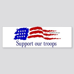 American Flag/Support Troops Bumper Sticker