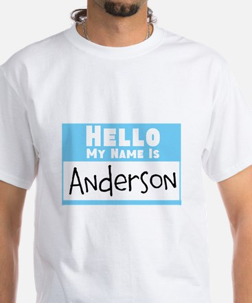 Personalized Name Tag White T-Shirt