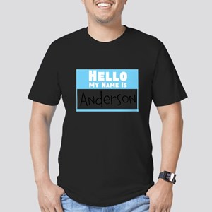 Personalized Name Tag Men's Fitted T-Shirt (dark)