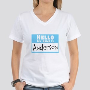 Personalized Name Tag Women's V-Neck T-Shirt