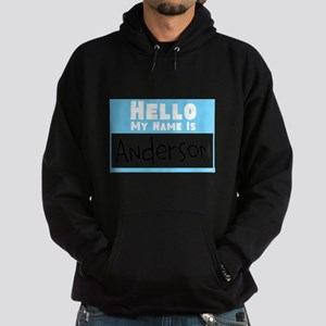 Personalized Name Tag Hoodie (dark)