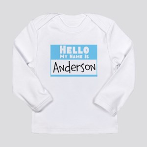 Personalized Name Tag Long Sleeve Infant T-Shirt