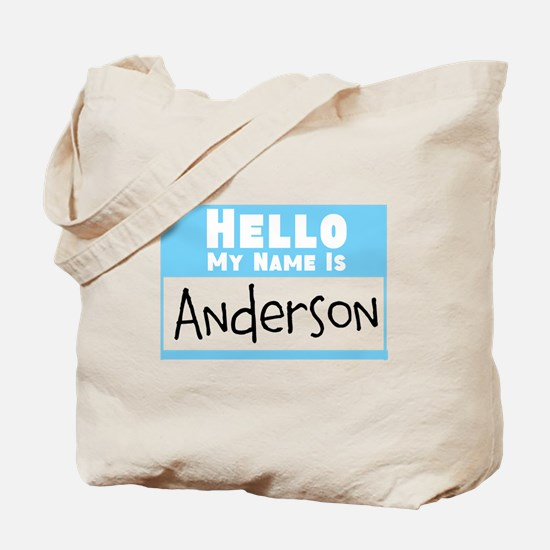 Personalized Name Tag Tote Bag