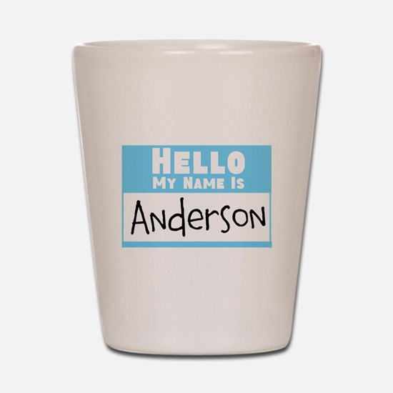 Personalized Name Tag Shot Glass