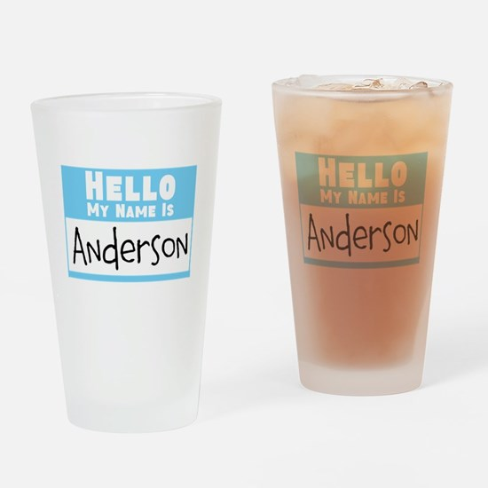 Personalized Name Tag Drinking Glass