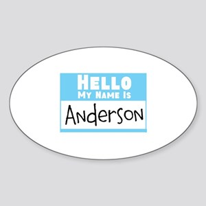 Personalized Name Tag Sticker Oval