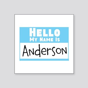 "Personalized Name Tag Square Sticker 3"" x 3"""