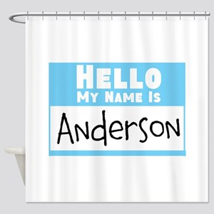 Personalized Name Tag Shower Curtain