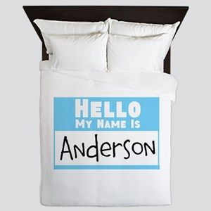 Personalized Name Tag Queen Duvet