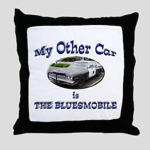Bluesmobile Throw Pillow