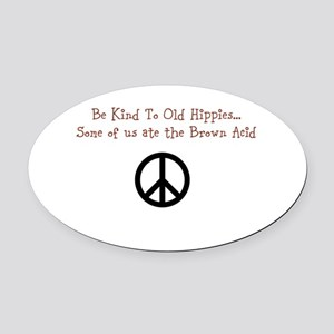 Woodstock '69 Humor Oval Car Magnet