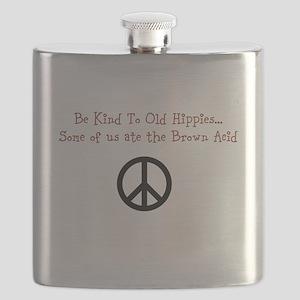 Woodstock '69 Humor Flask