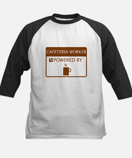 Cafeteria Worker Powered by Coffee Kids Baseball J