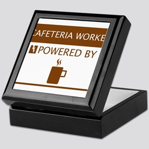 Cafeteria Worker Powered by Coffee Keepsake Box