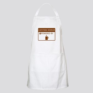 Cafeteria Worker Powered by Coffee Apron