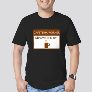 Cafeteria Worker Powered by Coffee Men's Fitted T-
